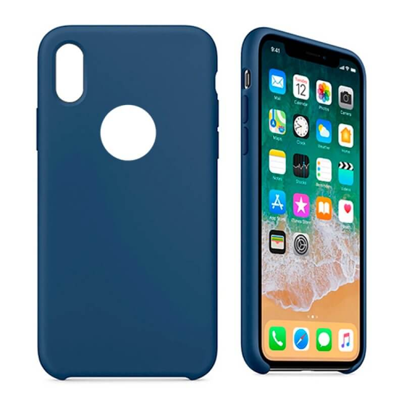 Silicone Cover iPhone Xs Max - Azul
