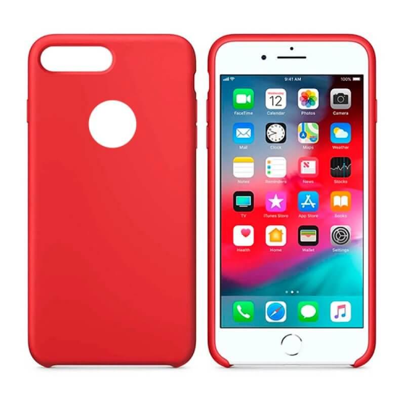 Capa Silicone iPhone 7/8 Plus - Vermelho