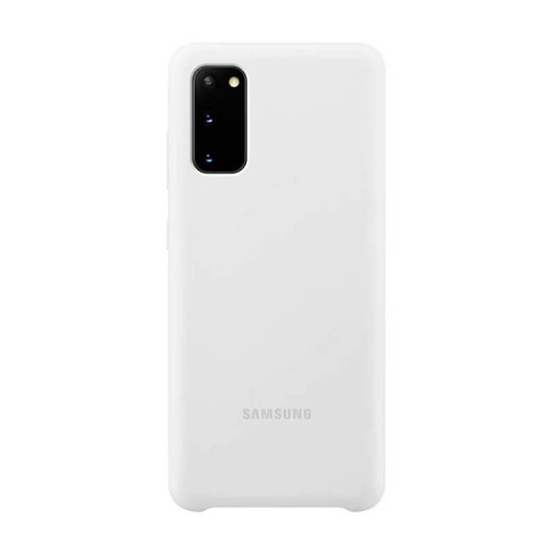 Silicone Cover Samsung S20 G980 - Branco