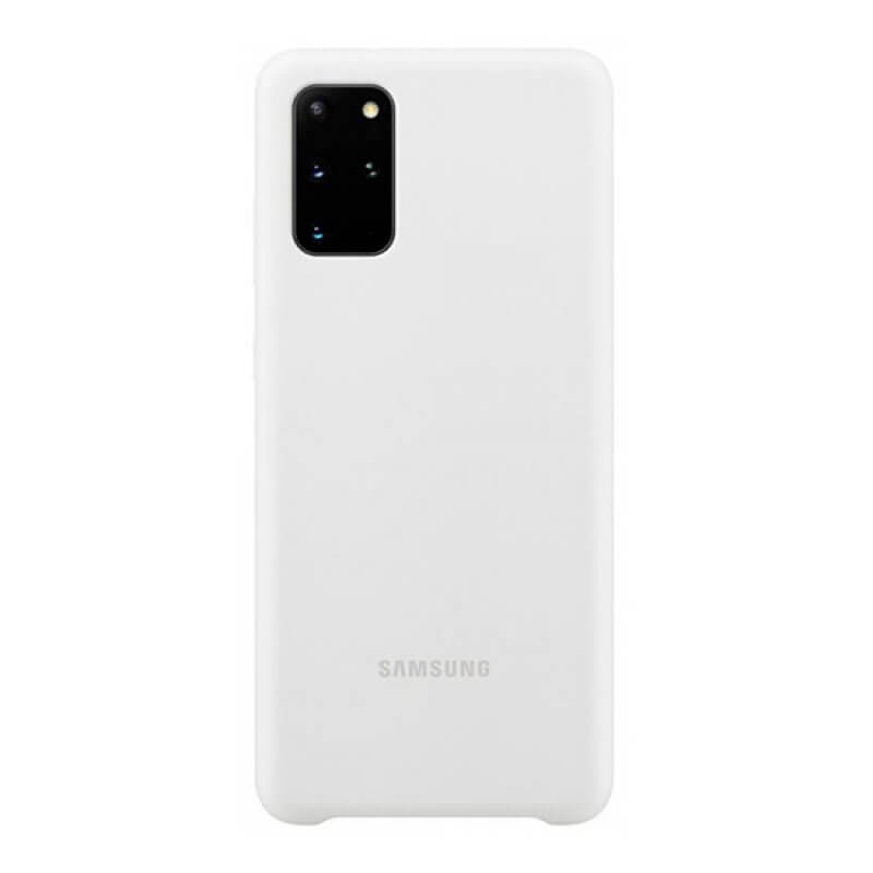 Silicone Cover Samsung S20+ G985 - Branco