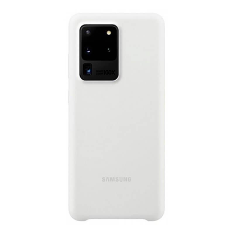 Silicone Cover Samsung S20 Ultra G988 - Branco
