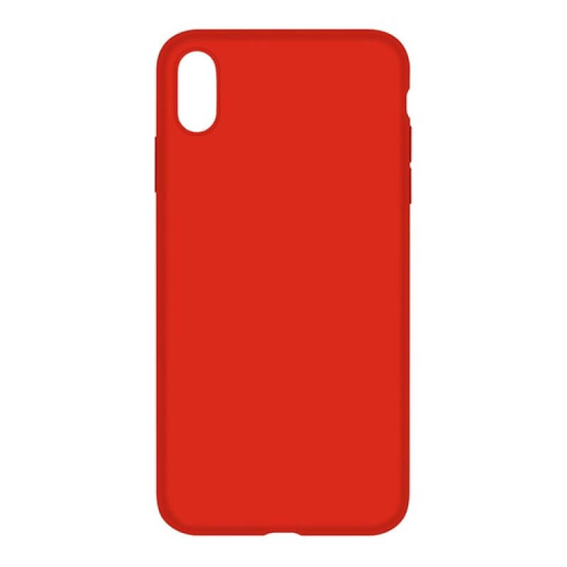 Silicone Nature Case Devia iPhone Xs Max - Vermelho
