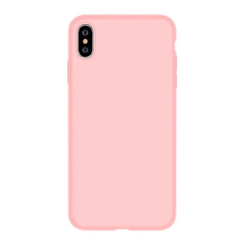 Silicone Nature Case Devia iPhone X/Xs - Coral