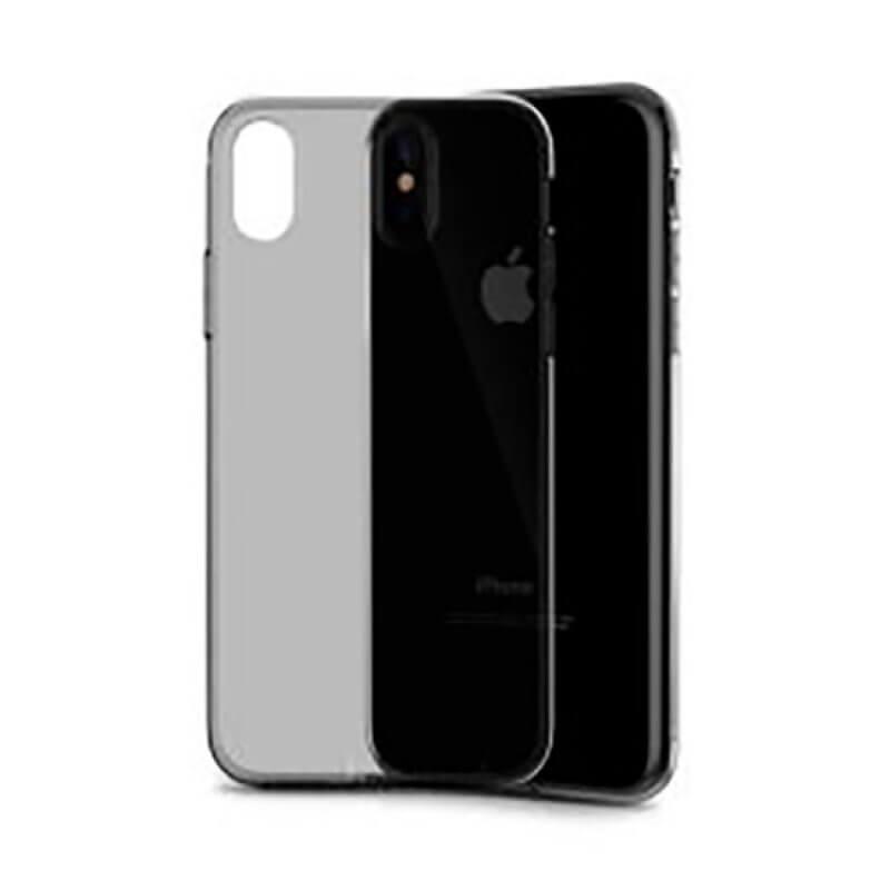 Capa Silicone Devia iPhone X/Xs - Preto Translúcido