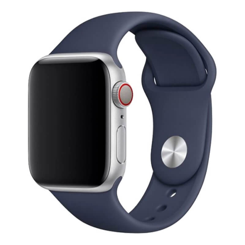 Bracelete Apple Watch 40mm Deluxe Devia Sport Band - Azul Meia-Noite