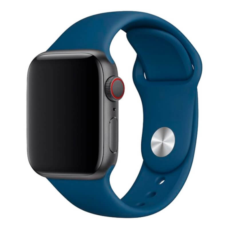 Bracelete Apple Watch 44mm Deluxe Devia Sport Band - Horizonte Azul