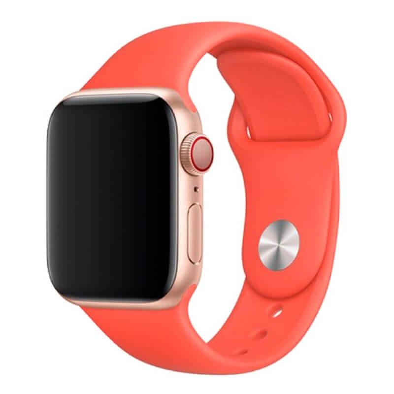 Bracelete Apple Watch 44mm Deluxe Devia Sport Band - Laranja