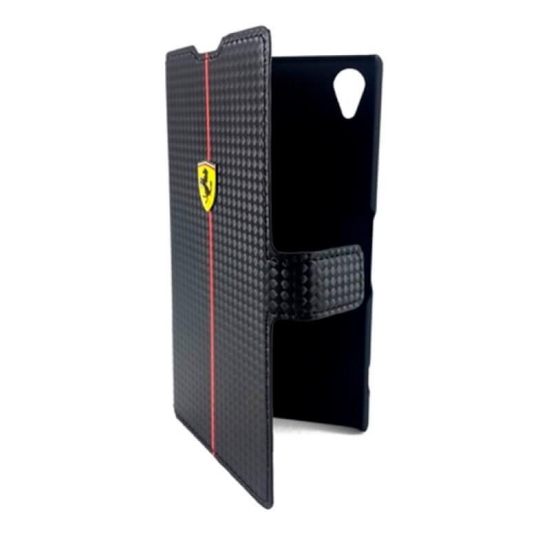 Flip Cover Ferrari Sony Z2 - Preto