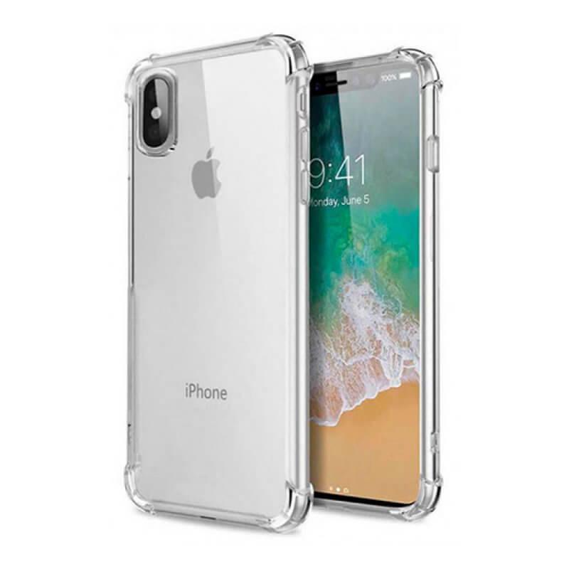 Capa Silicone Anti-Shock iPhone X/Xs - Transparente