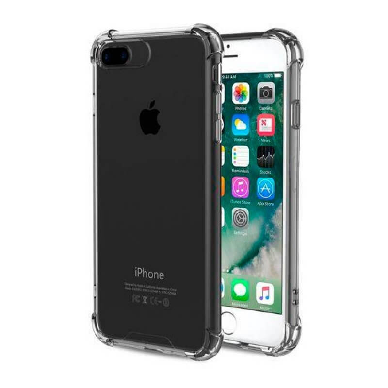 Capa silicone anti choque Apple iPhone 7/8 Plus - Transparente