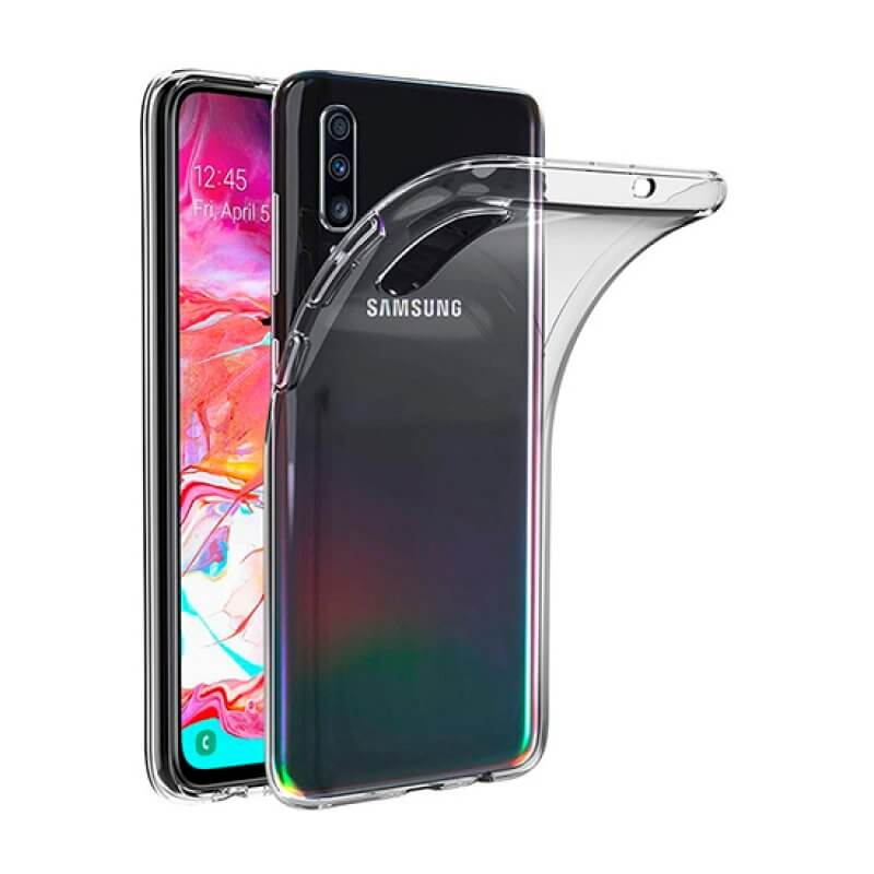 Capa silicone Samsung A70 A705 - Transparente