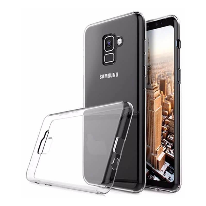 Capa silicone Samsung Galaxy A8+ A730 - Transparente