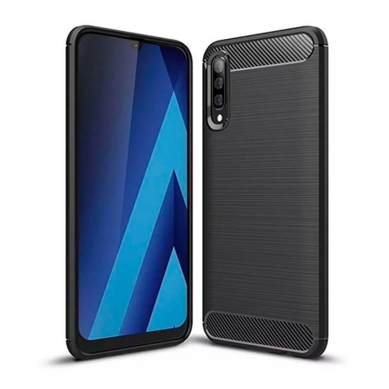 Capa silicone Samsung Galaxy A70 A705 Preto