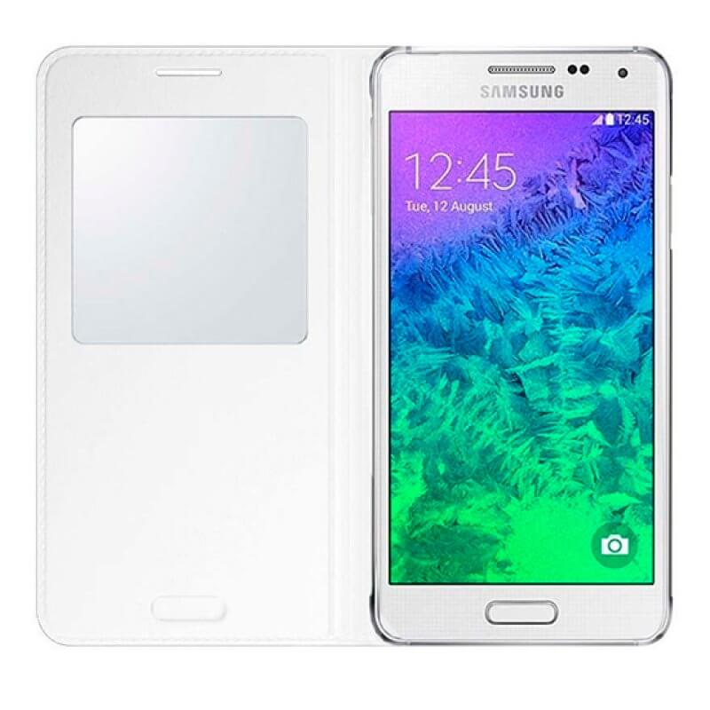 Capa S-View Samsung Alpha G850 - Branco