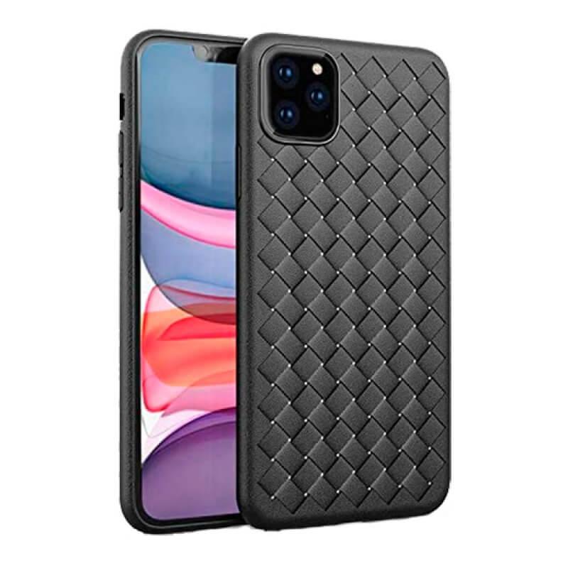 Capa Woven Pattern Devia iPhone 11 Pro Max - Preto