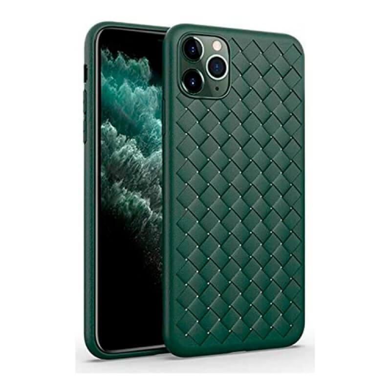 Capa Woven Pattern Devia iPhone 11 Pro Max - Verde