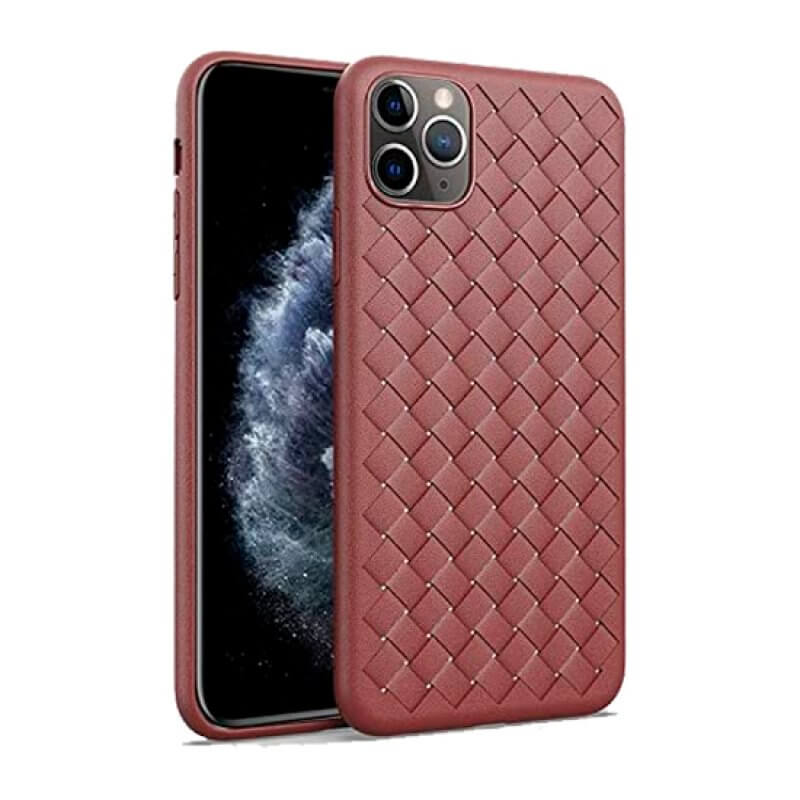 Capa Woven Pattern Devia iPhone 11 Pro Max - Vermelho