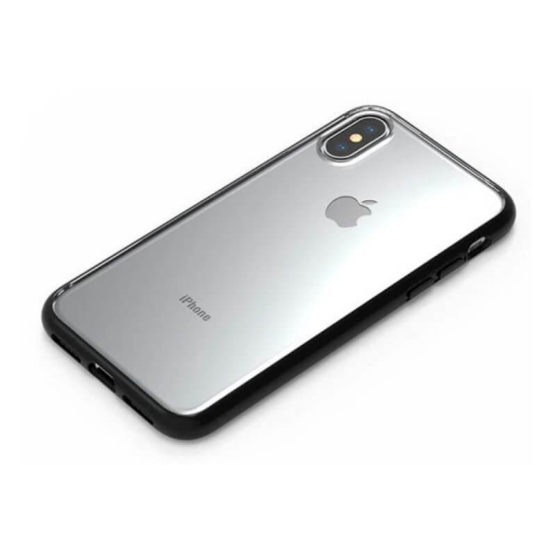 Case Anti-Shock Devia Series iPhone Xs Max - Transparente/Preto