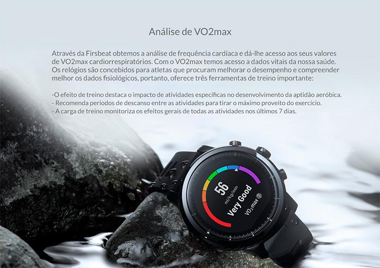 SmartWatch xiaomi Amazfit Stratos 2S - VO2max