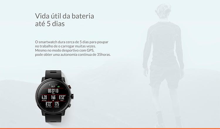 SmartWatch xiaomi Amazfit Stratos 2S - durabilidade