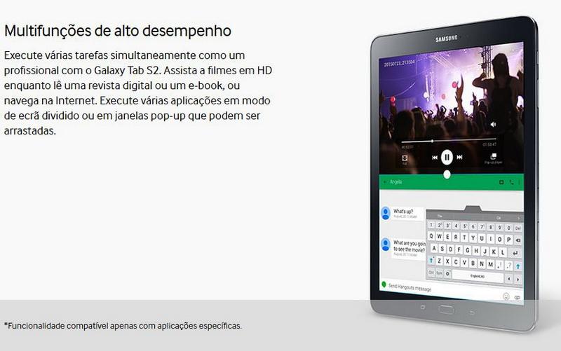 "Samsung Galaxy Tab S2 32GB 9,7"" Branco - SM-T810"